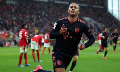 Thiago celebra un gol con el Bayern Munich esta temporada.