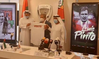 Pinto fue presentado como nuevo seleccionador de los Emiratos Árabes