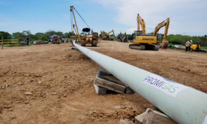 Obras de infraestructura de transporte de gas natural realizadas por Promigas.