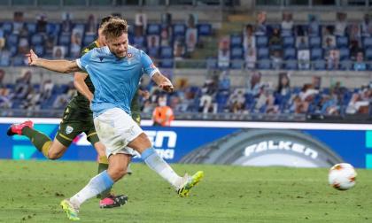 Immobile anotó el segundo gol de la Lazio en el triunfo 2-0 frente al Brescia, este miércoles.