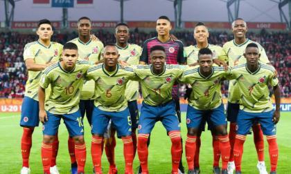 La selección Colombia que participó en el Mundial Juvenil de Polonia.