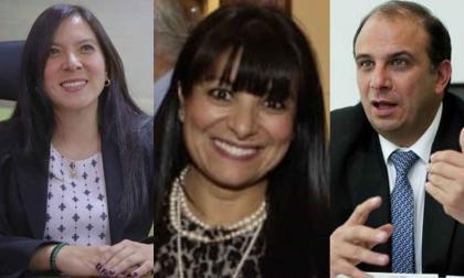 Miryam Martínez, Elizabeth Martínez y Carlos Camargo.