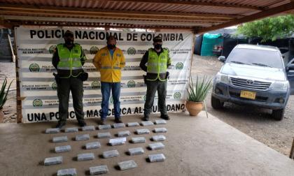 Decomisan más de 30 kilogramos de clorhidrato de cocaína en La Guajira