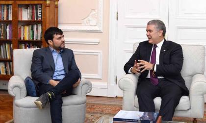 Jaime Pumarejo durante una reunión con Iván Duque en la Casa de Nariño.