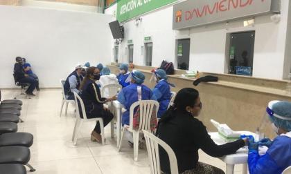Jornada de pruebas rápidas en Barranquilla.