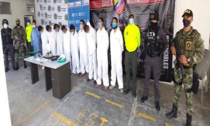 Los presuntos integrantes de la banda los 'Papi Urbanos'.