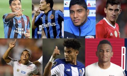 Teófilo Gutiérrez, Carlos Bacca, Luis Carlos Ruiz, Guillermo Celis, Vladimir Hernández, Luis Díaz y César Haydar, siete de los canteranos que Junior ha transferido.