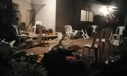 Aspecto de la vivienda donde se encontraban los ocho jóvenes asesinados en samaniego, Nariño.