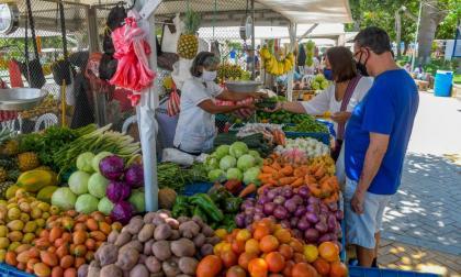 Son 34 vendedores los que hacen parte de esta plaza itinerante que se encuentra en el parque Venezuela.
