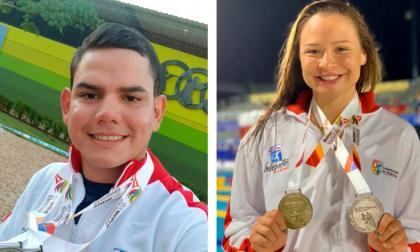 Dos de los deportistas que representan al departamento del Atlántico.
