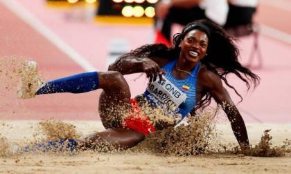 Caterine Ibargüen, segunda en salto largo en la Liga de Diamante