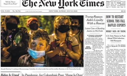 Colombia sí fue portada del NYT, pero no 'por la pobreza que ha traído Duque'