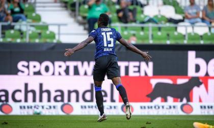 El colombiano Jhon Córdoba debutó con gol en el Hertha Berlín