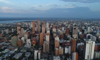 Panorámica aérea del norte de la ciudad de Barranquilla.