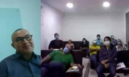 Aspecto de las audiencias virtuales por el caso de Colpensiones.
