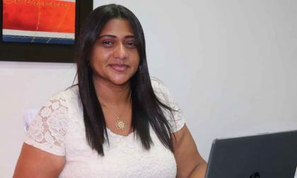 La secretaria de Salud departamental Rosario Moscote.