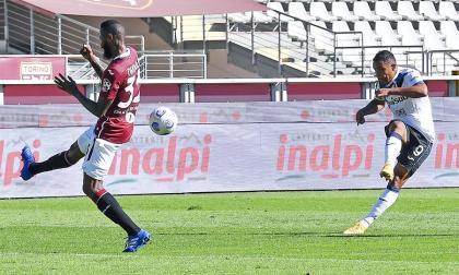 Con gol de Muriel, el Atalanta le ganó al Torino en Italia