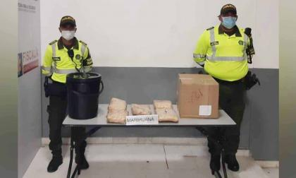 La droga incautada por la Policía Metropolitana de Barranquilla.