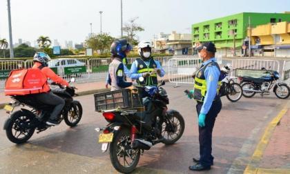 Desde este lunes vuelve el pico y placa para motos en Cartagena
