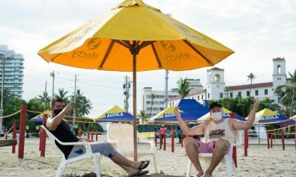 En video | Cartagena reabrió en Bocagrande su segunda playa biosegura