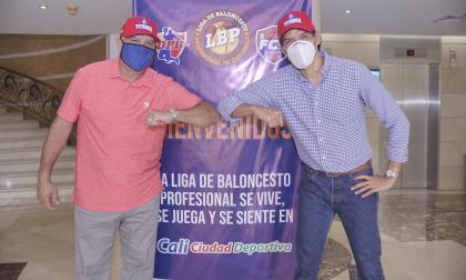 Luis Sojo y Alberto Caparroso, dos de los accionistas de Titanes de Barranquilla.