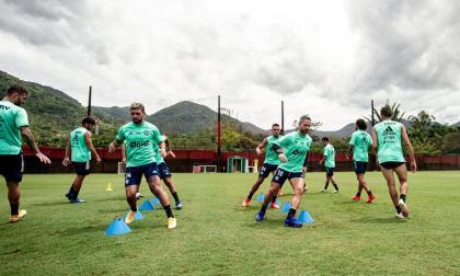 Un entrenamiento de Flamengo en su sede en Río de Janeiro.