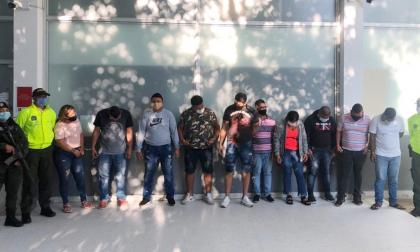 Los señalados integrantes de la banda delincuencial.