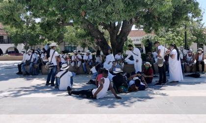 Movimiento separatista kankuamo  se toma la plaza Alfonso López