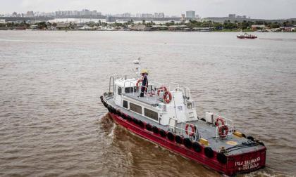 Panorámica del Canal de Acceso al Puerto de Barranquilla.