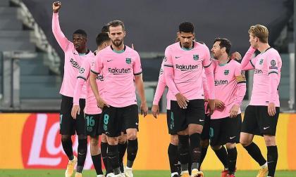 Ousmane Dembélé festejó con el puño su gol ante Juventus.
