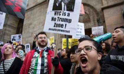 Convocan a protestas en Nueva York contra Trump mientras sigue el recuento