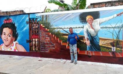 Las calles de El Banco son un museo de arte al aire libre