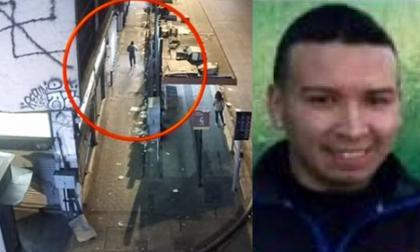 Diego Alexánder Ruiz Restrepo captado por cámaras de seguridad.