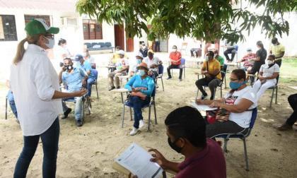 Capacitaciones realizadas a los líderes comunitarios de Sabanagrande.