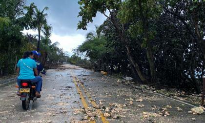 Turistas varados en San Andrés tras paso del huracán Iota
