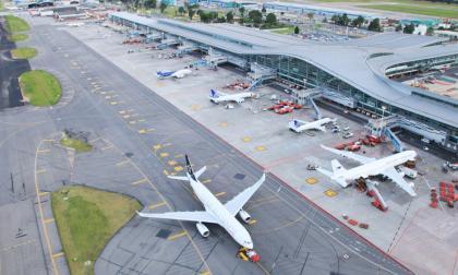 Aspecto general del aeropuerto El Dorado de Bogotá.