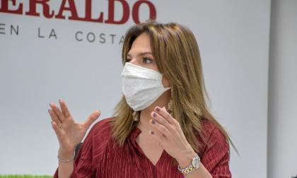 La presidente de ProColombia, Flavia Santoro, en visita a EL HERALDO.