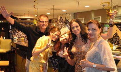 Ernesto, sus hijas Natalia y Marcela, Ana Milena, su esposa, y Nancy Sojo, su mamá.