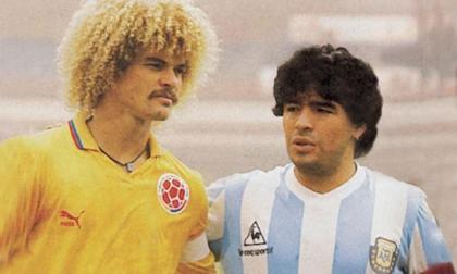 El Pibe y Maradona, en la Copa América de 1987.