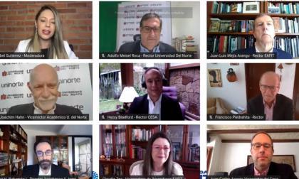 Rectores y vicerrectores anunciando la alianza 4U.