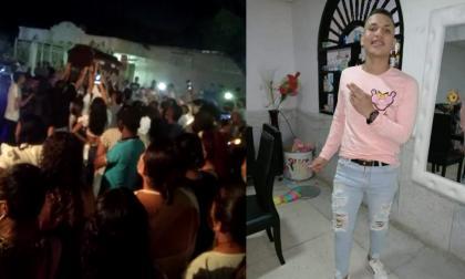 Con música y alegría despidieron a joven tras morir en pelea de cuchillos