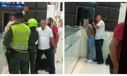 En video | Caos por robo de una joyería en centro comercial de Montería