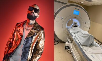Le detectaron mancha en el cerebro a Arcángel y es sometido a estudios
