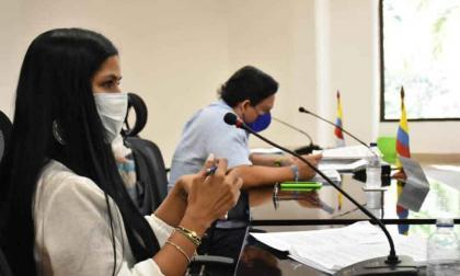 La diputada Lucía Cohen interviene durante la plenaria.