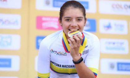 La ciclista colombiana Lina Hernández pertenece al equipo Colnago.