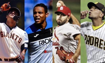 Dónovan Solano, Luis Fernando Muriel, Nabil Crismatt y Luis Patiño.