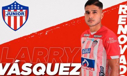 Larry Vásquez también renovó con Junior