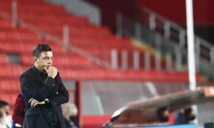 La decepción de Marcelo Gallardo, entrenador de River Plate.