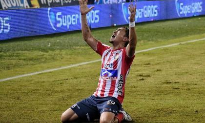 El argentino Fabián Sambueza celebrando el gol de la final ante Pasto, en 2019.