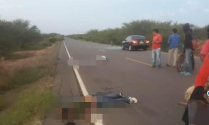 Cuerpos encontrados en la carretera que comunica al corregimiento Mayapo con Manaure.